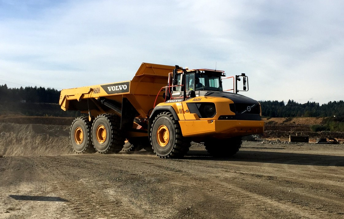 Volvo A60H, the world's largest articulated hauler, ready to haul some serious dirt