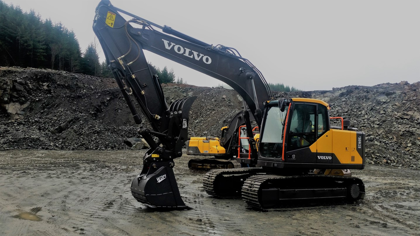 "A brand new Volvo EC160EL waiting to start on ""day one"""